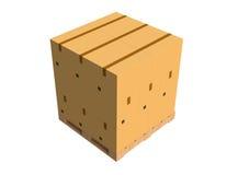 Κουτιά από χαρτόνι σε μια παλέτα Στοκ Φωτογραφίες
