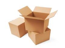 Κουτιά από χαρτόνι Στοκ φωτογραφίες με δικαίωμα ελεύθερης χρήσης