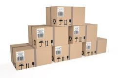 Κουτιά από χαρτόνι 4 Στοκ Φωτογραφία