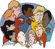 Κουτσομπολιό διανυσματική απεικόνιση