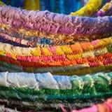 Κουλουριασμένα καλάθια υφασμάτων Στοκ εικόνα με δικαίωμα ελεύθερης χρήσης