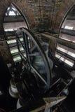 Κουδούνια εκκλησιών μέσα στο καμπαναριό - εγκαταλειμμένη εκκλησία - Νέα Υόρκη Στοκ Εικόνα