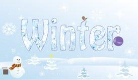 Κουδούνια πεύκων κινούμενων σχεδίων Χριστουγέννων snowmansnowflake Στοκ Εικόνες