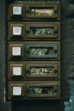 Κουδούνια πορτών διαμερισμάτων ή διαμερισμάτων Στοκ φωτογραφία με δικαίωμα ελεύθερης χρήσης