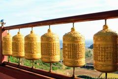 Κουδούνι δαχτυλιδιών μοναστηριών στο βουδιστικό ναό Sanbanggulsa σε Sanbangsan του νησιού Κορέα Jeju Στοκ Φωτογραφίες