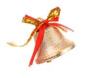 Κουδούνι και τόξο Χριστουγέννων Στοκ Εικόνες