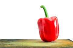 Κουδούνι κόκκινων πιπεριών που απομονώνεται στο άσπρο υπόβαθρο Στοκ εικόνες με δικαίωμα ελεύθερης χρήσης