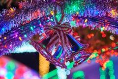 Κουδούνι φω'των Χαρούμενα Χριστούγεννας Στοκ φωτογραφία με δικαίωμα ελεύθερης χρήσης