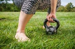 Κουδούνι Workout κατσαρολών Στοκ Εικόνες