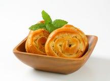 Κουλούρια κρέμας της Apple Στοκ Εικόνα