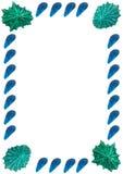 κοχύλια θάλασσας εικόνων πλαισίων Στοκ εικόνα με δικαίωμα ελεύθερης χρήσης