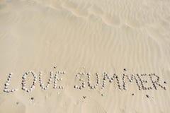 κοχύλια θάλασσας άμμου όμορφη κενή θερινή πετοσφαίριση παραλιών σφαιρών ανασκόπησης Τοπ όψη Στοκ εικόνες με δικαίωμα ελεύθερης χρήσης