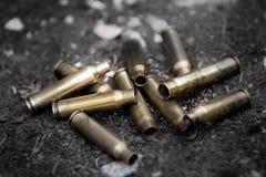 Κοχύλια πυροβόλων όπλων ορείχαλκου Στοκ Φωτογραφία