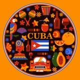Κούβα Αβάνα γύρω από το έμβλημα απεικόνιση αποθεμάτων