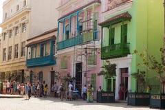 Κούβα Αβάνα 8 Φεβρουαρίου 2018 - παλαιά κτήρια στην παλαιά πόλη Hav Στοκ εικόνα με δικαίωμα ελεύθερης χρήσης