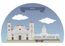 Κούβα Αβάνα διανυσματική απεικόνιση