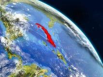 Κούβα από το διάστημα διανυσματική απεικόνιση