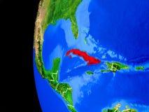 Κούβα από το διάστημα ελεύθερη απεικόνιση δικαιώματος