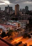 Κούβα Νύχτα Αβάνα Η τοπ άποψη σχετικά με τους Προέδρους λεωφόρων Στοκ εικόνες με δικαίωμα ελεύθερης χρήσης