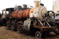 Κούβα: Παλαιά ατμομηχανή που θα αποκατασταθεί σε Havanna για ένα trai στοκ εικόνα