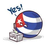Κούβα που ψηφίζει ναι ελεύθερη απεικόνιση δικαιώματος