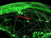 Κούβα στην πράσινη σφαίρα διανυσματική απεικόνιση