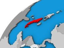 Κούβα στην τρισδιάστατη σφαίρα ελεύθερη απεικόνιση δικαιώματος