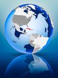 Κούβα στη σφαίρα διανυσματική απεικόνιση