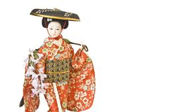 κούκλα Ιαπωνία Στοκ φωτογραφία με δικαίωμα ελεύθερης χρήσης