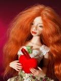Κούκλα και καρδιά στοκ φωτογραφίες