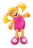 κούκλα λίγο διάνυσμα παι& Στοκ Εικόνα