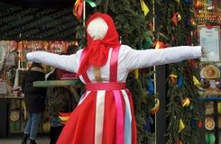 Κούκλα Shrovetide Εορτασμοί Shrovetide στη Μόσχα Στοκ φωτογραφίες με δικαίωμα ελεύθερης χρήσης