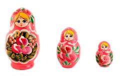 κούκλες ρωσικά τρία Στοκ Εικόνα