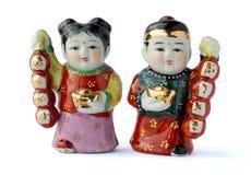 κούκλες της Κίνας Στοκ εικόνα με δικαίωμα ελεύθερης χρήσης