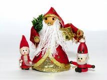 κούκλες τρία Χριστουγέν&nu Στοκ Εικόνα