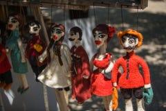 Κούκλες υφάσματος στη Γεωργία στην αγορά οδών στοκ εικόνες