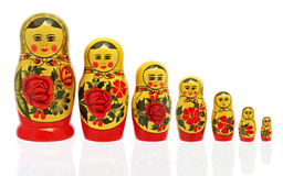 κούκλες babushka Στοκ φωτογραφία με δικαίωμα ελεύθερης χρήσης