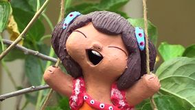 Κούκλα αργίλου κεραμική απόθεμα βίντεο