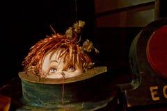 Κούκλα βροντής που κρυφοκοιτάζει έξω από τις ηλικίες από μπροστά Στοκ εικόνα με δικαίωμα ελεύθερης χρήσης