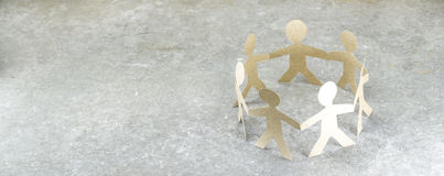 Κούκλα εγγράφου της ενότητας Στοκ Εικόνα