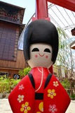Κούκλα κιμονό της Ιαπωνίας Στοκ φωτογραφία με δικαίωμα ελεύθερης χρήσης