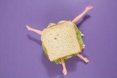 Κούκλα σάντουιτς Στοκ Εικόνες