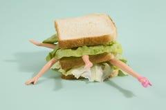 Κούκλα σάντουιτς Στοκ εικόνες με δικαίωμα ελεύθερης χρήσης