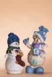 Κούκλα χιονανθρώπων Χριστουγέννων Στοκ φωτογραφία με δικαίωμα ελεύθερης χρήσης