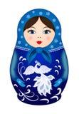 Κούκλα Matryoshka στο χειμερινό ύφος Στοκ Φωτογραφίες