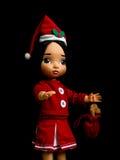 Κούκλα Santy, ένα φόρεμα santa ένδυσης κουκλών Στοκ εικόνες με δικαίωμα ελεύθερης χρήσης
