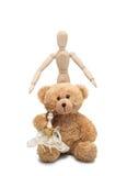 Κούκλα, Teddy και άτομο Στοκ Εικόνα