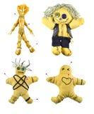 Κούκλες βουντού καθορισμένες Στοκ εικόνες με δικαίωμα ελεύθερης χρήσης