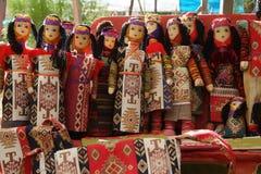 Κούκλες στο Vernissage Στοκ Εικόνες