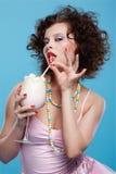 κούνημα γάλακτος κοριτσ στοκ εικόνες με δικαίωμα ελεύθερης χρήσης